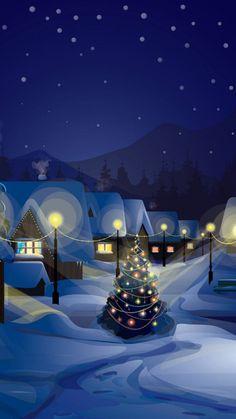 Cute Fall Wallpaper, Cute Christmas Wallpaper, Christmas Background, Noel Christmas, Winter Christmas, Christmas Phone Backgrounds, Beautiful Christmas Scenes, Winter Scenery, Christmas Drawing