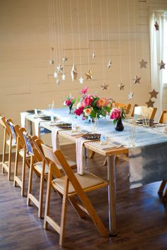 hanging star reception // photo by Love, The Nelsons; styling by Sweet Sunday Events