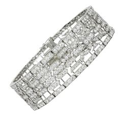 Art Deco Lacloche Freres Diamond Bracelet / Choker | From a unique collection of vintage bangles at http://www.1stdibs.com/jewelry/bracelets/bangles/