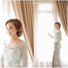 A happy day for @beningsubianti who got engaged today. She looks stunning in her light blue kebaya. We especially love that off-shoulder silhouette, and the slit on her kain adds a sexy touch with elegance.  Congratulations for your engagement!  Kebaya by @andhitasiswandi Make up by @allyssahawadi Hand corsage by @kreasiyaya Photo by @lemotionphoto Catering by @alscateringjkt