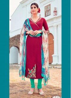 Mod Cotton Satin Designer Suit