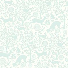 Create a memorable nursery full of love and laughter with this darling pink wallcovering. Magical silhouettes of forest animals among an abundant scene of dancing trees, designs a beautiful place for your newborn to rest their head. Rendered in a chic silhouette style, this darling wall covering brings an enchanted woodland harmony to walls that captivates in a stylish ivory and light gray palette. Bring the scenes from a storybook to life on walls with this baby blue wall paper. A gorgeous…