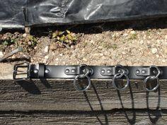 Halter O Ring Belt Genuine Black Leather Assembled U.S.A.