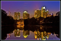 Midtown Atlanta skyline from Piedmont Park (right down Peachtree Street from THINK HQ)