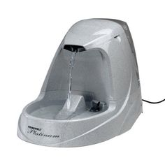 Drinkwell Platinum Pet Fountain: http://www.amazon.com/Drinkwell-D2VVI-RE-DWVVI-RE-Platinum-Fountain/dp/B000L3XYZ4/?tag=httpbetteraff-20