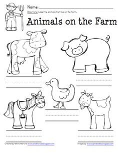 Montessori Inspired Farm Animal Activities (Free