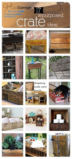 Ideas for decorating with old crates!