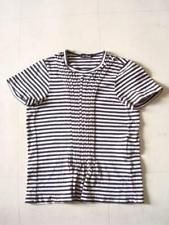 COMME des GARCONS border design T-shirt White x black Size F JUNYA WATANABE F/S