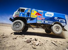 The Insane 5,600-Mile Race Through South America's Roughest Terrain | Even the trucks, which carry teams of three, don't stay on the ground.