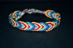 #peacock a'manu por DaWanda.com #armband #bracelet #dyi #macrame