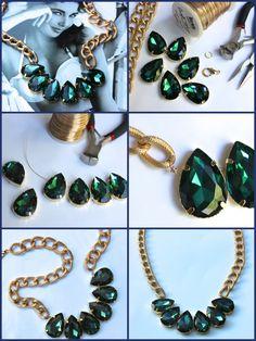 Glitternglue / diy necklace