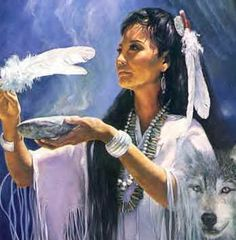 The Image of the goose can not only be represented be the a 'goose' but also by its feathers.   native_american__woman_smudging_cut_version.jpg (348×354)