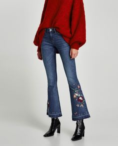 Image 2 of THE SKINNY FLARE JEANS WITH EMBROIDERY from Zara Artesanía  Mexicana 89312a403c8b