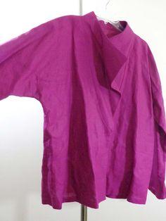 Artist jacket lagenlook top art to wear artsy magenta boxy reuse 4 planet sz OS #Unbranded #BasicJacket