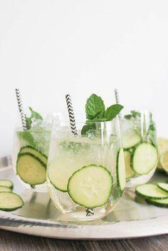 Cucumber-Mint Sparkler | Domesticate Me