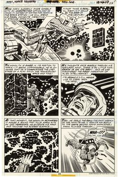2001: A Space Odyssey, Issue 4, Page 23 - Pencils by Jack Kirby, Inks by Mike Royer #JackKirby #SpaceOdyssey #Marvel