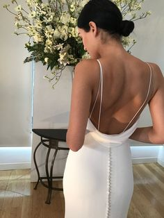 Kelly faetanini wedding dresses - low back wedding dress with spaghetti straps Pin discovered by Kelly's Closet bridal boutique in Atlanta, Georgia weddingdress Perfect Wedding, Dream Wedding, Wedding Day, Boho Wedding, Wedding Blue, Trendy Wedding, Spring Wedding, Wedding Decor, Yes To The Dress