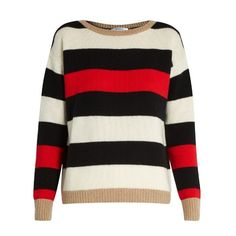 Max Mara Sevres sweater ($525) ❤ liked on Polyvore featuring tops, sweaters, red multi, relaxed fit tops, maxmara, red sweater and red top