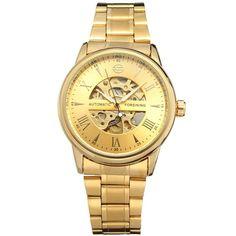 original FORSINING Leather Relogio masculinos top Brand watches men luxury brand Automatic mens wristwatch