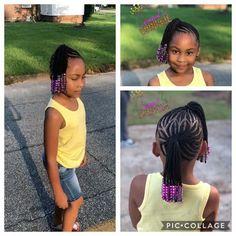 Two braided ponytails #Braidedponytail