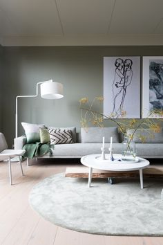 Interior Concept, Home Interior Design, Interior Styling, Scandinavian Living, Upholstered Sofa, Home Trends, Living Room Designs, Sweet Home, New Homes