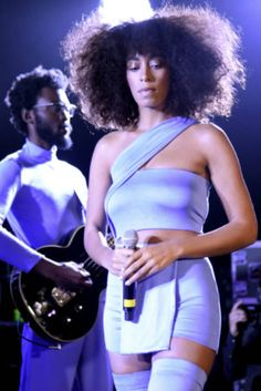 """"""" Center Stage: Solange performs at the YouTube @ SXSW showcase during the 2017 SXSW Conference And Festivals. Photos Credit: Tim Mosenfelder/Getty Images """""""