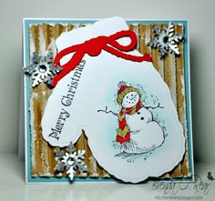 Snowman Mitten by Benzi - Cards and Paper Crafts at Splitcoaststampers