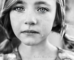 just love this.even though its sad to see those tears :( she is gorgeous. White Photography, Portrait Photography, People Photography, Children Photography, Nostalgia, Sad Faces, Portraits, Les Sentiments, Color Of Life