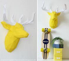 3D Origami Hirsch • paper-shape | Seemannsgarn • handmade