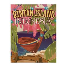 Bintan Island Indonesia travel poster