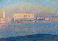 Claude Monet The Palazzo Ducale, Seen from San Giorgio Maggiore, 1908, oil on canvas, 65 x 100.5 cm, Solomon R. Guggenheim Museum, New York, Thannhauser Collection. The artist's views of the city are animated by his desire to get down to the bare essentials of what he selected to look at. Venice was, for him, a return to basic materials — stones, light, water, mist — each interacting with the other to produce a mosaic of suffused iridescent hues that saturate the entire surface of the…