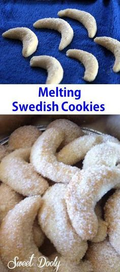 Melting-Dreaming Swedish Cookies.Flower, sugar & butter. That's all!