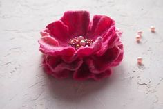 Felt brooch-Felt flower brooch-Flower brooch-Felt flower