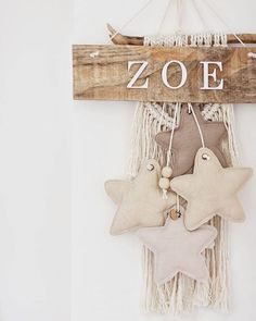 Baby Decor, Nursery Decor, La Petite Boutique, Jobs In Art, Baby Name Signs, Yarn Wall Hanging, Baby Box, Wood Wall Decor, Baby Kind