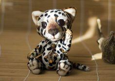 Детеныш ягуара. Сдержанный, молчаливый, наблюдательный. Игрушка по рисунку на заказ. Изготовление игрушки по рисунку.