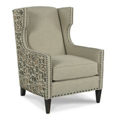 Zizi Wing Chair for Mike in Hearth Room, we get to select Fabric, Finish, and Nailhead Accents...xoxo, Stash
