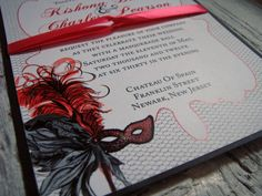 Masquerade Wedding Invitation | Masquerade wedding invitations and ...