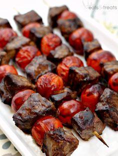 Balsamic Steak Skewers Recipe - RecipeChart.com