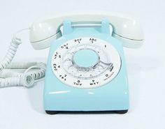 vintage rotary blue phone - Recherche Google