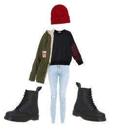 """""""Untitled #29"""" by molu-1 on Polyvore featuring Dr. Martens, Topshop and NLY Accessories"""