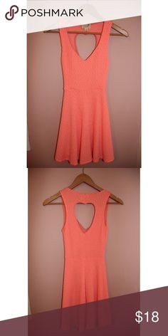 LA Hearts Neon Coral Dress Neon Coral dress from LA Hearts that was purchased at PacSun. Has a heart shaped cut out in the back. Soft and stretchy material. In amazing condition and has only been worn once. LA Hearts Dresses Mini