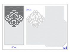Wedding invitation Card 5x7 Template iron door por EasyCutPrintPD