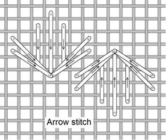 embroidery . . . Arrow Stitch, Stitch of the Month April 2011 ~By Needlelace