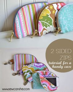 Quick DIY Gifts You Can Sew - Two Sided Zips - Best Sewing Projects for Gift Giving and Simple Handmade Presents - Free Patterns and Easy Step by Step Tutorials for Home Decor, Baby, Women, Kids, Men, Girls http://diyjoy.com/quick-diy-gifts-sew