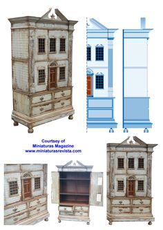 http://www.cdhm.org/printies/make-a-dollhouse-chest-12.jpg. This is exactly the type of dollhouse I want to make. It has the home on top and storage below so that there is a place for everything and it is self contained