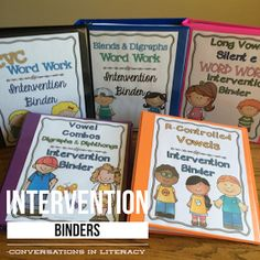 These binders are great for differentiating our word work!! RTI Intervention Phonics Binders$