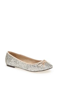 Partying into the New Year with these glitter flats.