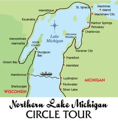 Preliminary Lake Michigan Circle Tour Route Map Motorcycles and