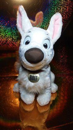 Disney Bolt the Dog White LIghtning Plush Stuffed Disneyland Parks  #bolt #disneyplush #puppy #boltthedog