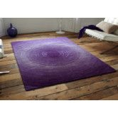 Found it at Wayfair - Artistry Purple Circle Area Rug